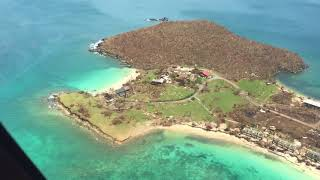 9/10/17 Aerial Footage Caneel Bay to Peter Bay St John USVI after Hurricane Irma
