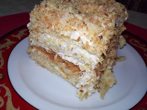Торт Наполеон с нежным кремом Шарлотт