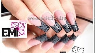 Дизайн ногтей: Кракелюр гелями Е.Мi: Соколова Светлана