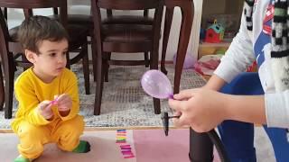 Berat Minik Balonları Şişirdi Buğra Patlattı