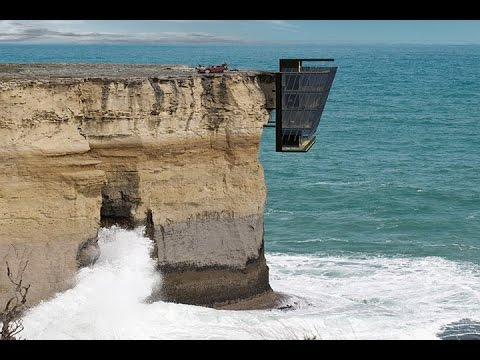 Modern architecture hanging cliff house modscape concept for Cliff hanging homes