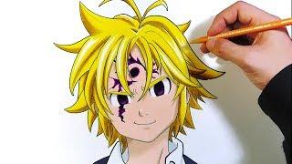Cómo dibujar a Meliodas con lápices de colores | Los 7 Pecados Capitales | Nanatsu no Taizai