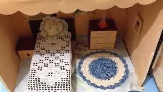 Como Fazer Casinha de Bonecas de Caixa de Papelão - Artesanato