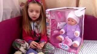 Лялька Бебі борн розпаковка.Кукла беби бон распаковка. Baby born doll