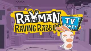 Rayman Raving Rabbids TV Party Title Screen (2010, Ubisoft)