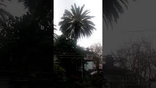 Fethiyede yağmur ve fırtına görüntüleri