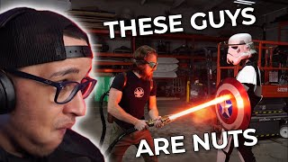 "The Hacksmith Team Are Sith In Disguise | Aqwa Reacts To ""4000° LIGHTSABER TEST (CUTS ANYTHING!)"""