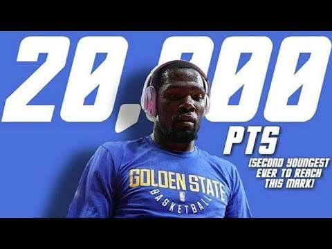 Kevin Durant second-youngest player to reach 20,000