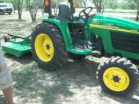 John Deere 4410 tractor video