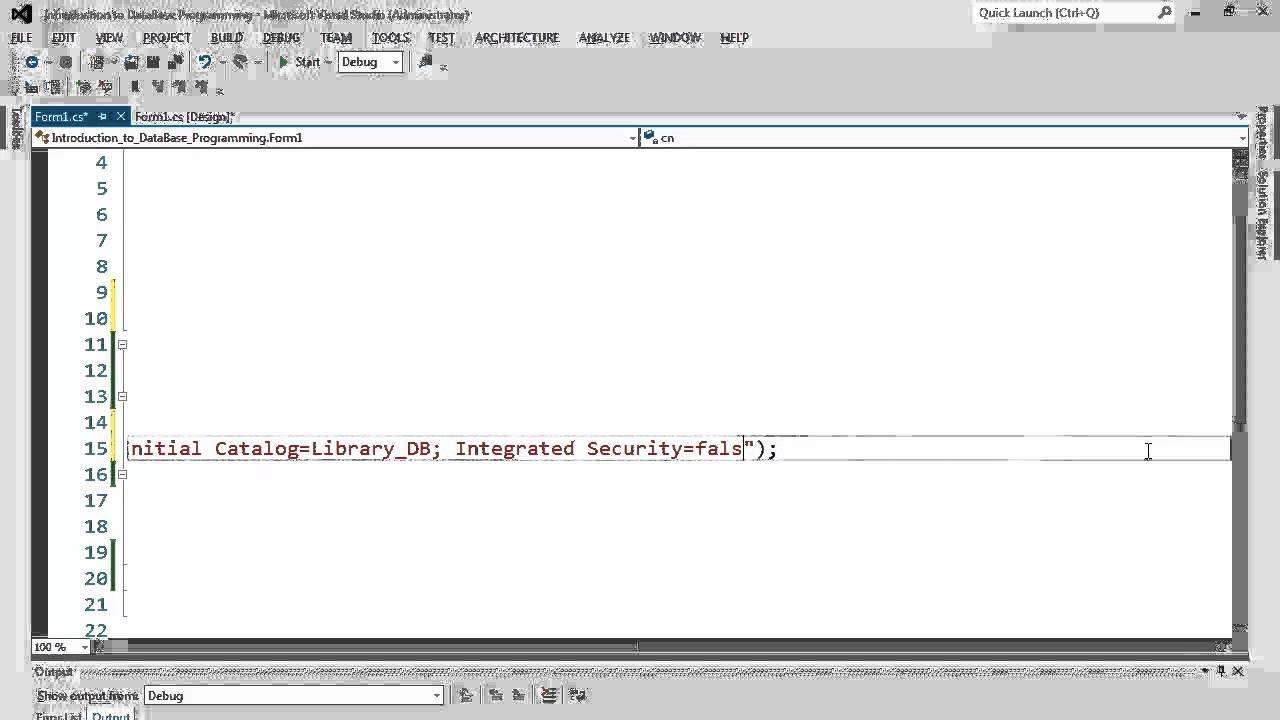 80. برمجة قواعد البيانات -  ربط الاتصال مع قاعدة البيانات عبر الفئة SqlConnection