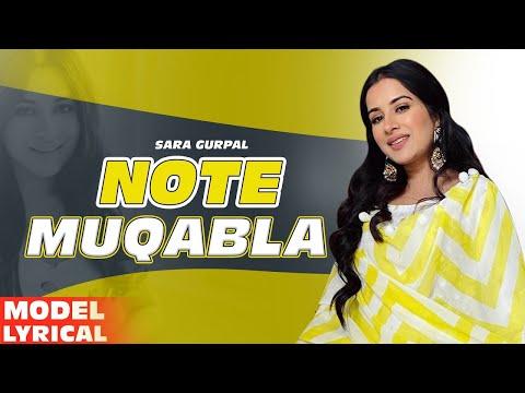 Sara Gurpal(Model Lyrical) | Note Muqabla| Goldy Desi Crew ft Gurlej Akhtar| Latest Punjabi Song2020