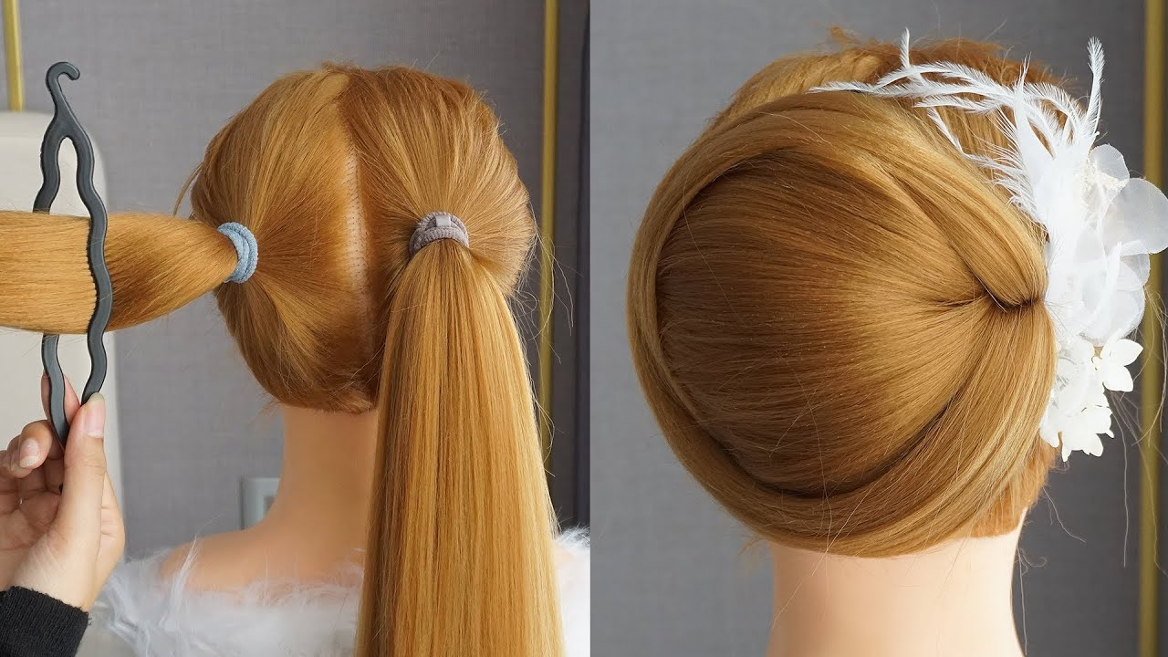 Chignon Hairstyle Tutorial | Bun Hairstyles With Trick For Wedding & Party |Prom Updo Hairstyle 2020