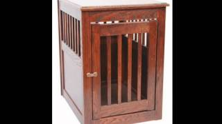 Dynamic Accents 52164 Oak End Table Pet Crate Medium Mahogany