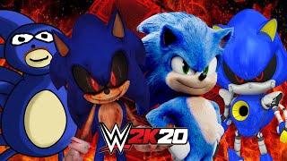 SANIC vs SONIC.EXE vs SONIC MOVIE vs METAL SONIC | WWE 2K20 Gameplay