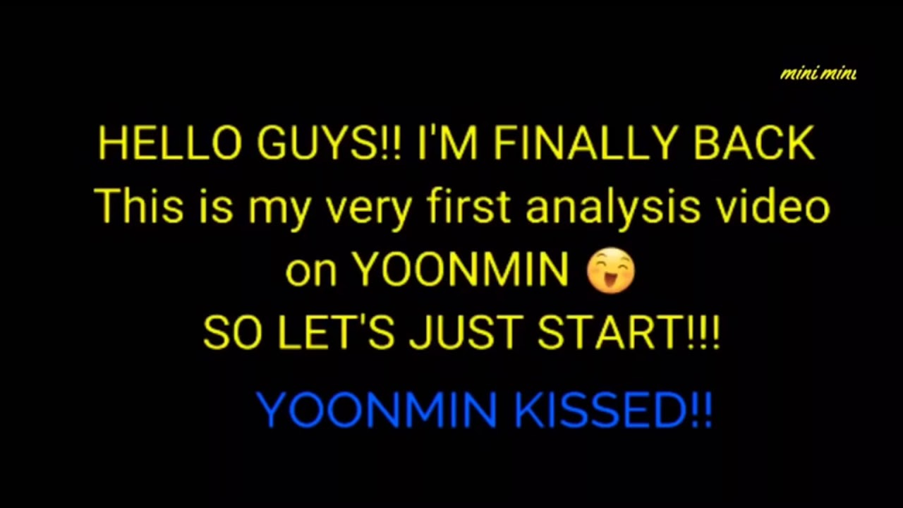 yoonmin analysis #1||yoonmin kiss *arabic sub* يونمين مومنت