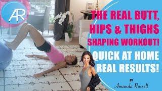 Best Hips, Butt & Thighs Workout (at-home | no equipment)