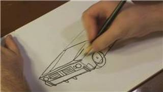 How to Draw Vehicles : How to Draw a Lowrider Car Step by Step