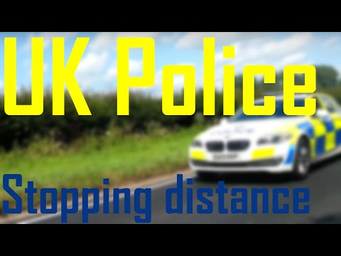 UK Police test stopping distance. (Short video)