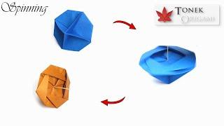 Hướng dẫn gấp con quay - DIY Origami Spinning Toy Tutorial
