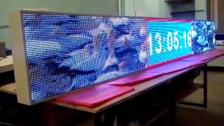 видео светодиодная бегущая строка