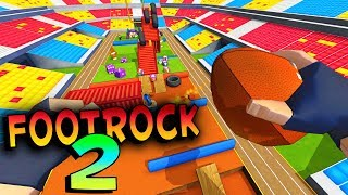 MAN DODGES PENCILS FOR TOUCHDOWNS! - FootRock 2 Game - Let's Play FootRock 2 Gameplay & Review