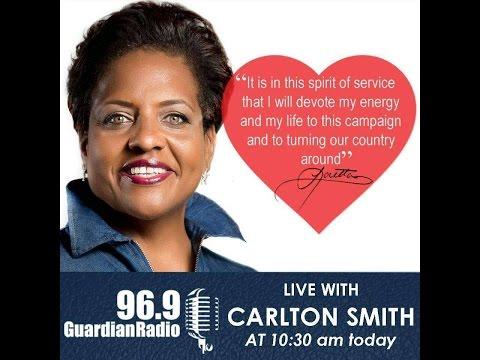 LONG ISLAND MP Loretta Butler Turner Interview on Guardian Radio  Live with Carlton Smith  3/21/2017