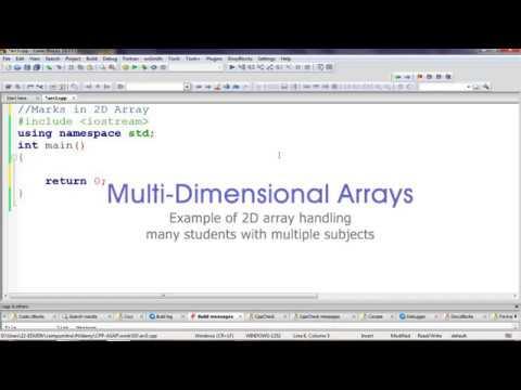 Student Marks 3 Subjects 2D Array – Computer Sir Ki Class