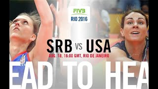 USA vs Serbia - Rio 2016 Volleyball Women