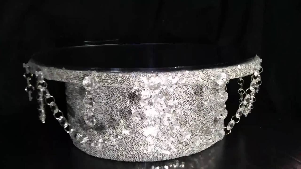 how to make a bling cake stand