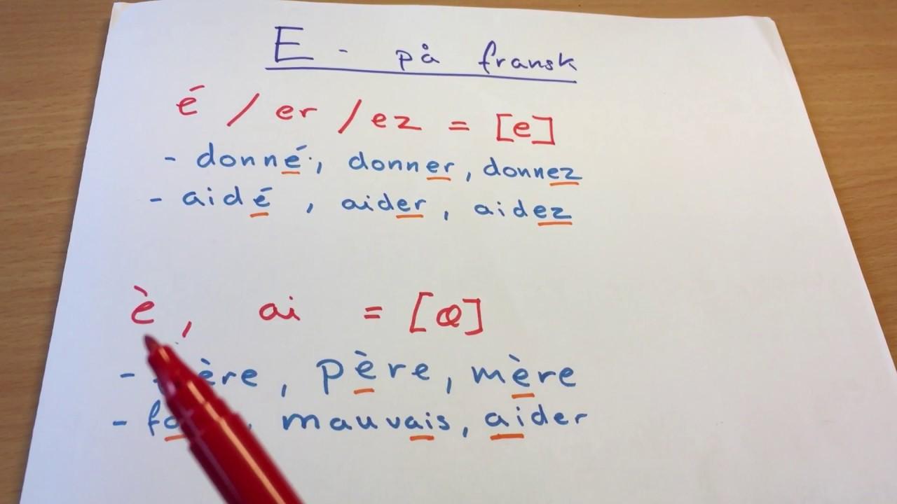 fransk udtale