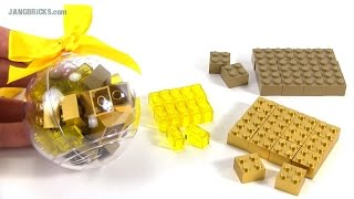 LEGO Gold Bricks Holiday Bauble Ornament opened - 853345