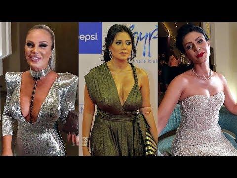 شاهد اجرأ 10 فنانات ظهروا بفساتين مثيره في مهرجان الجونه 2019