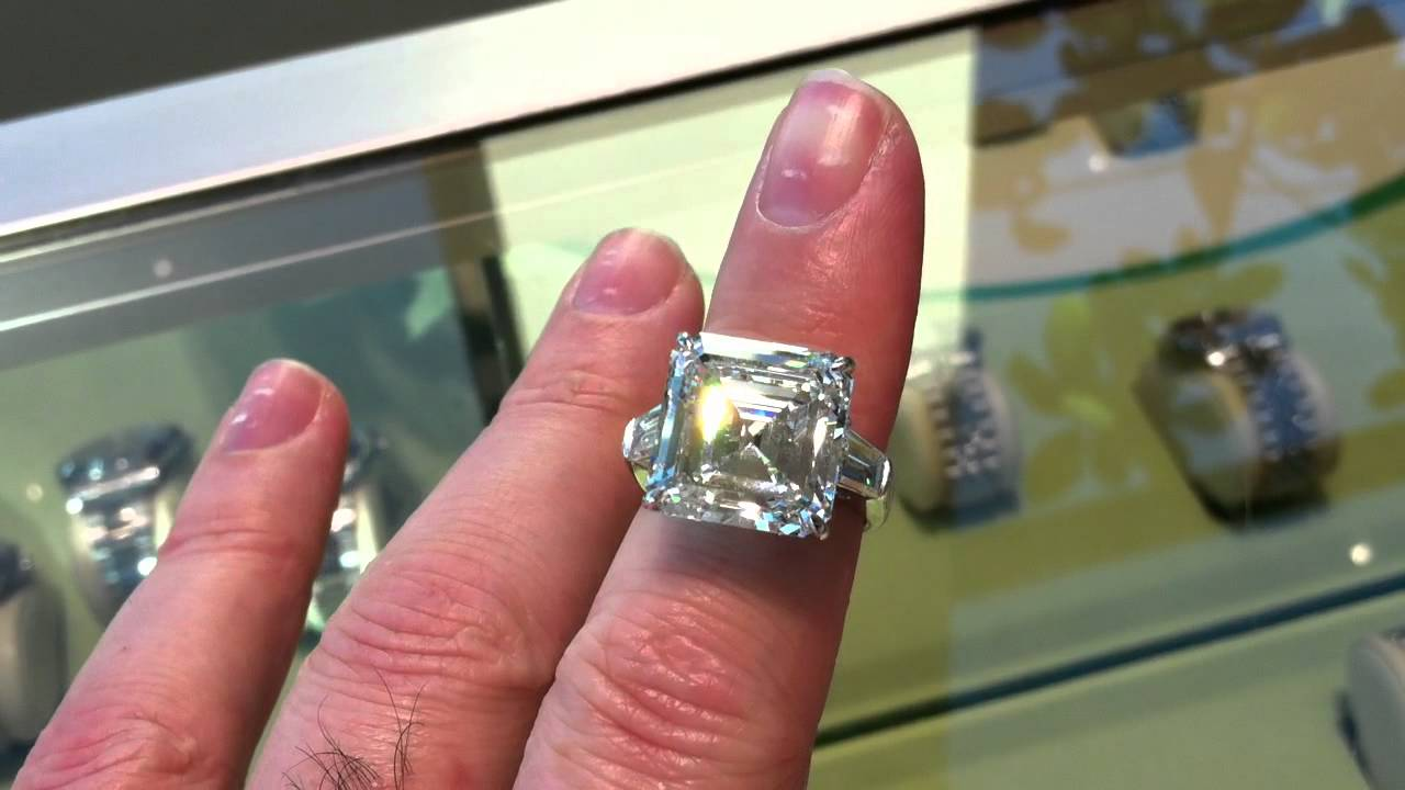 13 Carat Asscher Cut Diamond Youtube
