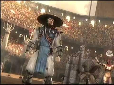 Mortal Kombat 9 Ladder mode Raiden  vs Shao Kahn Final boss