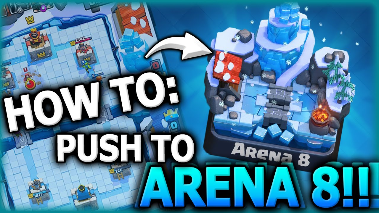 How To Get To Arena 8 Top 3 F2p Decks To Get Arena 8 Clash Royale Best Arena 7 Deck Youtube