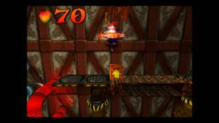 Crash Bandicoot - 100% Playthrough, Part 20 - Heavy machinery + Clear gem, N. Brio & Tawna bonus