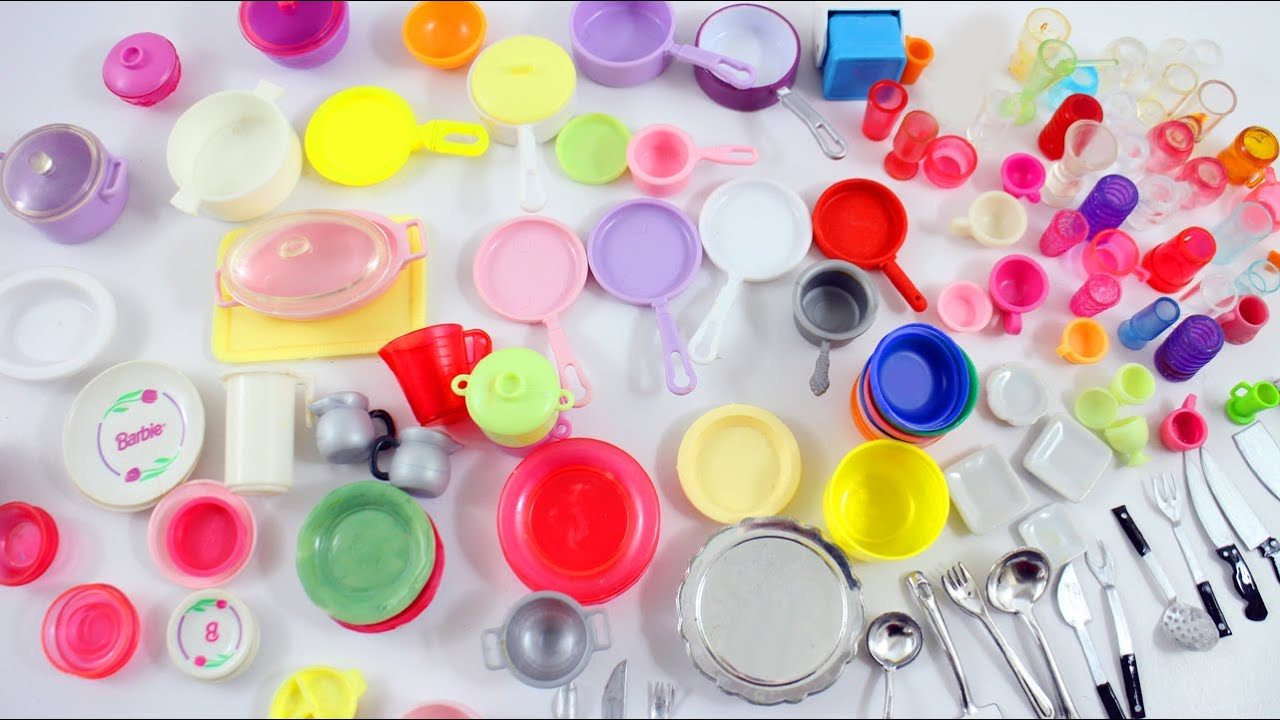 My Doll Kitchen Utensils Collection - simplekidscrafts - YouTube