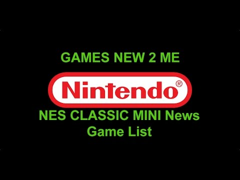 Mini NES Console Classic Features & Game List