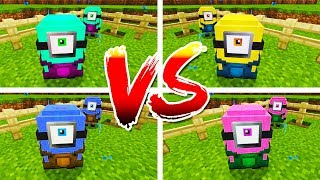 *CRAZY UPDATE* MUTANT MINION MOD 2vs2vs2vs2 - MINECRAFT MODDED MINION MAKER