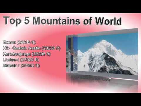 Top 5 Mountains of the World