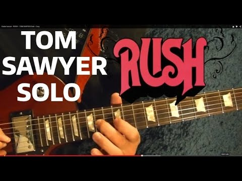 RUSH - Tom Sawyer Solo - Guitar Lesson