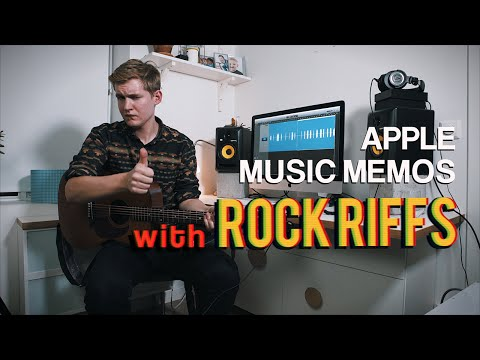 Apple's Music Memos with some Classic ROCK RIFFS!