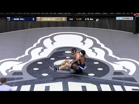 174 LBs: #1 Mark Hall (Penn State) vs. #15 Dylan Lydy (Purdue) | Big Ten Wrestling