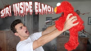 (SIRI IN ELMO) DO NOT PLAY WITH ELMO AND SIRI AT 3AM! ONE MAN HIDE AND SEEK WITH SIRI INSIDE ELMO!