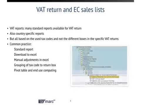 Learning Lab Reporting functionality for VAT, EC sales lists and Intrastat