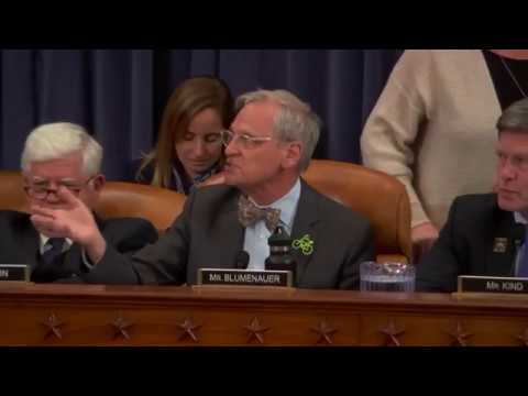 Blumenauer Closing Remarks - Ways & Means Committee Mark-Up of H.R. 1, the GOP Tax Proposal