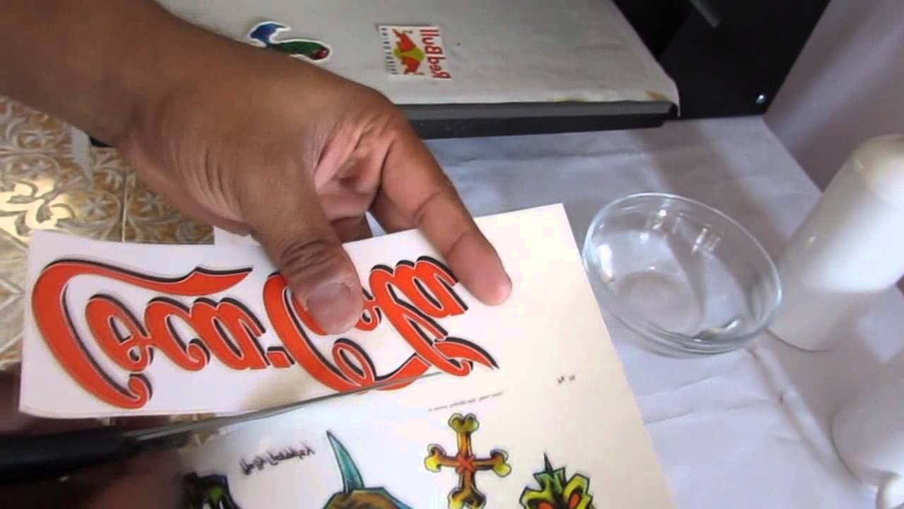 Papel Para Tatuajes Temporales Youtube