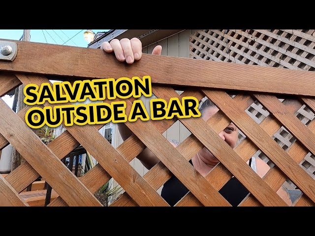 Salvation comes as New Believers shine the light outside a bar