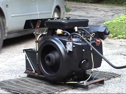 test of rebuilt onan b43g 18hp on homebuilt stand