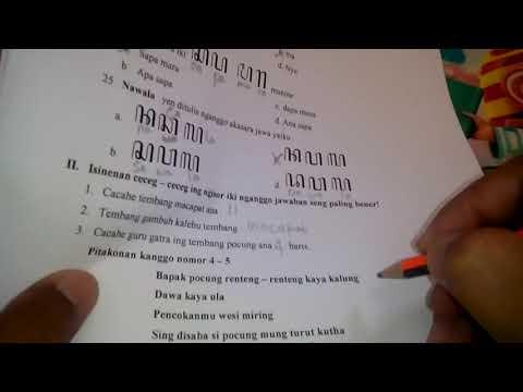 Pembahasan Soal Isian UTS Bahasa Jawa kelas 3 SD
